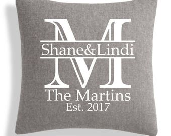 Personalized Initial Pillow - 18x18