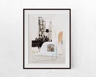 "Original collage artwork on paper ""Skin"""