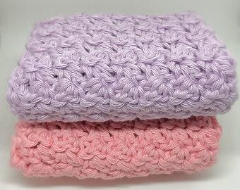 FACE CLOTH WASHCLOTH, Handmade, 100% Pure Cotton, Eco Friendly, Organic Crochet Washcloths