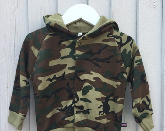Camo Baby Hoody - Lightweight Cotton - Perfect for Summer