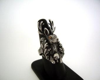 Jackalope with Gardener's Skull Ring