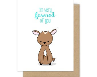 Cute I Love You Card Romantic Anniversary Deer Pun Girlfriend Boyfriend Wife Husband Fun Funny Handmade Greeting Cards Gifts For Her Him