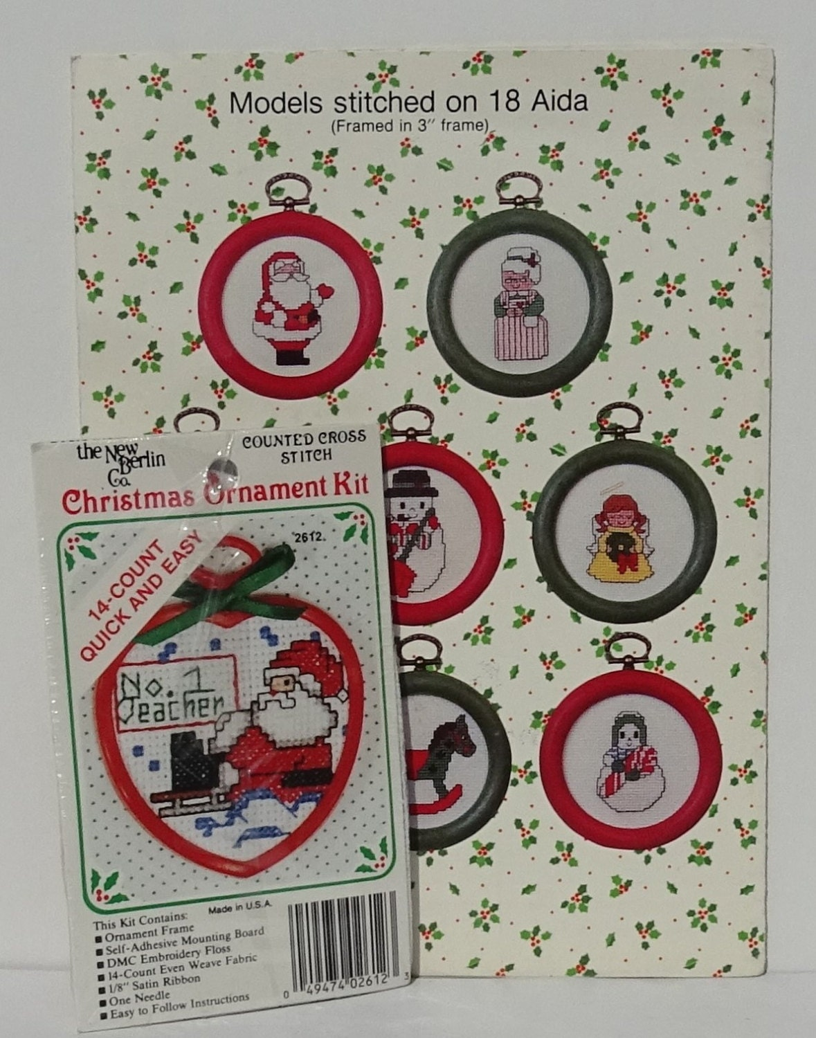 Christmas Counted Cross Stitch Patterns and Small Kit, Christmas ...