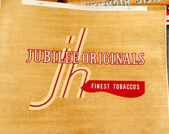 Vintage Jubilee Cigar Box Label