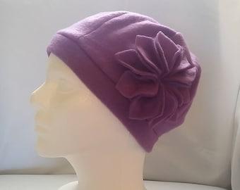 Womens Fleece Purple Hat