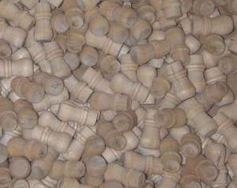 "50 Round 1/4"" WOOD KNOBS *NEW* Unfinished Birch Pulls Cabinet Handles"