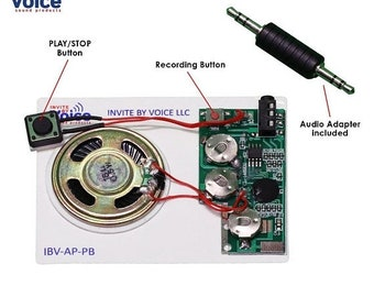 ON SALE - 25% OFF Push Button Re-recordable Voice Sound Chip - record directly from any device