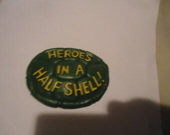 Vintage 1989 TMNT Teenage Mutant Ninja Turtles Heroes In A Half Shell Burger King Promo Toy, collectable