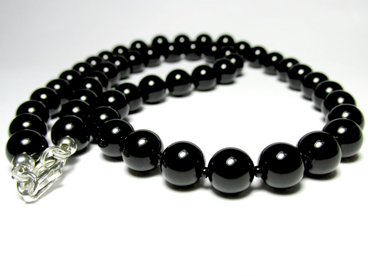 bead necklace lazaro for soho onyx jewelry faceted chains men spinel black