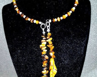 Tigers Eye Choker Style Necklace