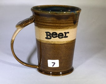BEER MUG, pottery mug, ceramic mug