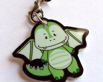 Green Dragon Acrylic Charm