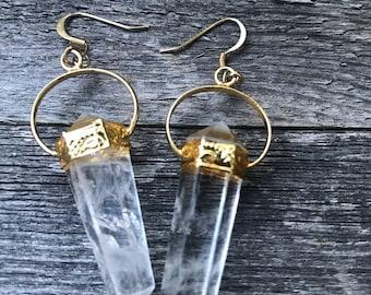 Krystal crystal quartz earrings