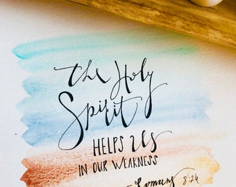 Scripture Art Watercolor painting