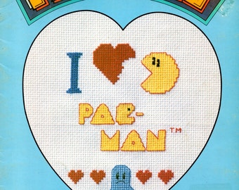 Pac Man Ghosts Humorous Early Video Game Characters Couch Potato Television Counted Cross Stitch Embroidery Pattern Craft Leaflet 4