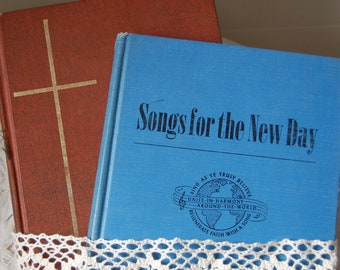 Vintage Shabby Church hymnals. Vintage song books 1969 , 1953 Christian Hymnals