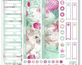 APRIL Monthly View Bunny Planner Stickers for Erin Condren Planner