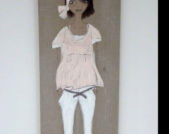 female mannequin in Tableau acryliquepour home decor