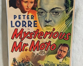 Mysterious Mr. Moto Fridge Magnet - Classic Film Theatrical Poster Magnet - Peter Lorre