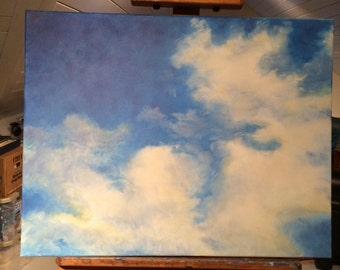 Royal Clouds 28x22 Original Oil Painting