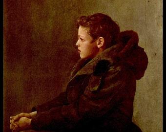 """Andrew Wyeth, Andrew Wyeth Print, Fine Art Print, Vintage Wyeth Print, American Artist, Wyeth Painting, Americana,""""Nicholas"""""""