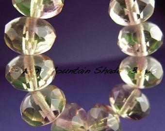 Store Closing 50% OFF Czech Glass Beads - 11mm Rondelle Light Jonquil Amethyst (G-126)
