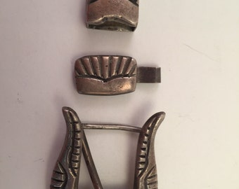 Vintage Navajo Ranger set coin to sterling silver