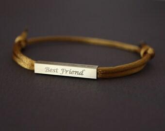 Personalised Bracelet, Custom Bracelets, Engraved Bracelet, Personalized Gifts for Her, Friendship Bracelet, Best Friend Gift, Name Bracelet