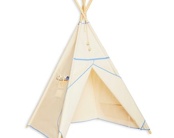 Teepee Tent - Natural Blue