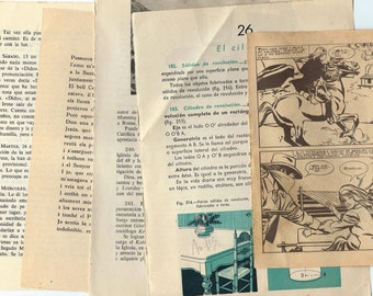 10 Vintage Spanish book Sheets