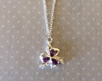 Purple Necklace - Purple Jewelry - Purple Pendant - Birthstone Necklace - Birthstone Jewelry - February Birthstone - Cubic Zirconia Necklace