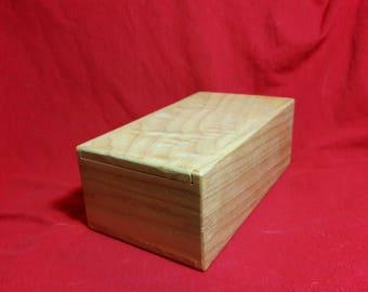 Figured Wood - MTG Hardwood Deck Box - Slide top box