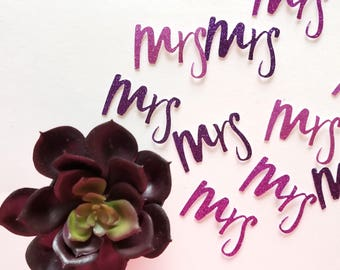 Ultra Violet MRS Table Confetti {20 pcs} Pantone Color of the Year, Bachelorette Party Decor, Bridal Shower, Anniversary, Engaged