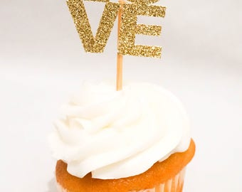 Cupcake Topper / Cake Topper / Wedding Cupcake Toppers/ Engagement Party Cupcake Toppers / Bridal Shower Decorations / Wedding Decorations