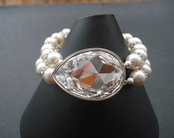 SALE - Isabella Collection, Bridal Bracelet, Rhinestone Crystal Bracelet, Vintage Style Bridal Jewelry, Weddng Jewelry