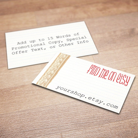Finest 100 Custom Business Cards for Promoting Your Etsy Shop All ZK82