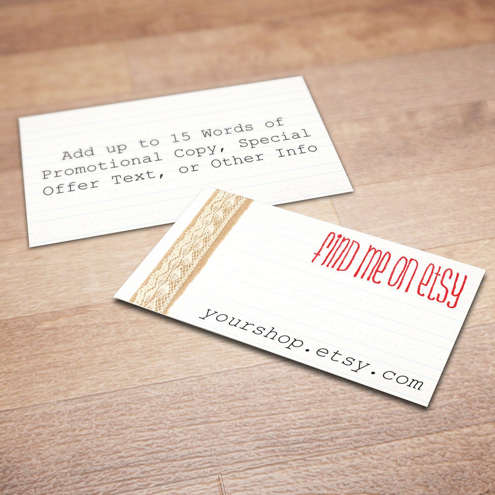 100 Custom Business Cards for Promoting Your Etsy Shop All