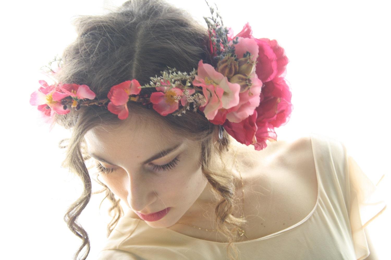 Bridal Flower Crown Floral Crown Rustic Bridal Tiara Boho