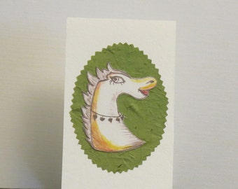 Horse illustrated card