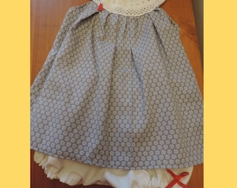 Baby vintage dress and bloomer set