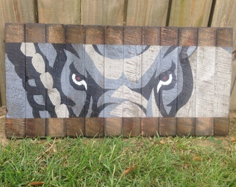 Reclaimed Wood Alabama Crimson Tide Wall Art