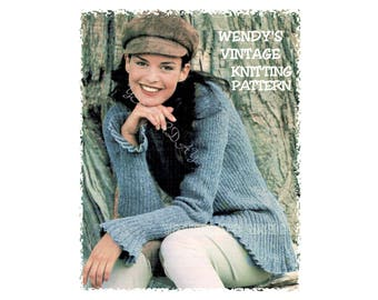 Instant Download Pdf Knitting Pattern To Make A Womens Flared