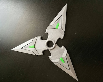 Genji shurikens stars Overwatch cosplay costume prop ( One or Pack of 3) - finished product - 3d printed - Genji cosplay