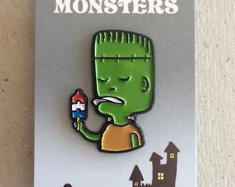 Frankenstein Ice Cream Monster Enamel Pin