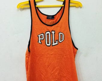 Rare polo Ralph Lauren spell out singlet L size