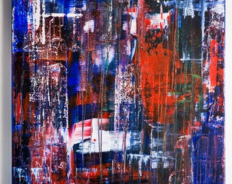 Abstract Painting, Original painting, Acrylic painting, Red Blue White Painting, Contemporary painting, Modern Art, modern painting,