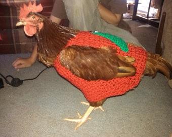 Chicken sweaters, hen sweater, chickens, hens, Christmas, crochet, pets, chicken clothing, chicken sweaters, hen swea