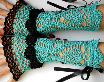 Crocheted Cotton Gloves Women 30% OFF Cuffs Ready To Ship Victorian Fingerless Summer Wedding Lace Evening Retro Accessories Bridal Party B4