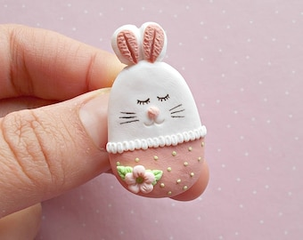 Easter Bunny Jewelry - Easter Brooch - Bunny Brooch - Easter Gift - Cute Brooch -  Filler - Easter Bunny - Easter Basket