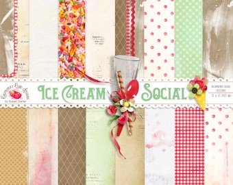 Ice Cream Social Paper Set